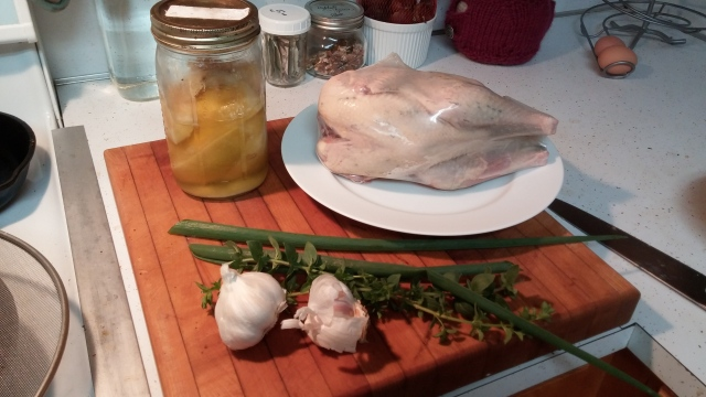 Chicken, lemons, herbs. Everything you need for happiness.