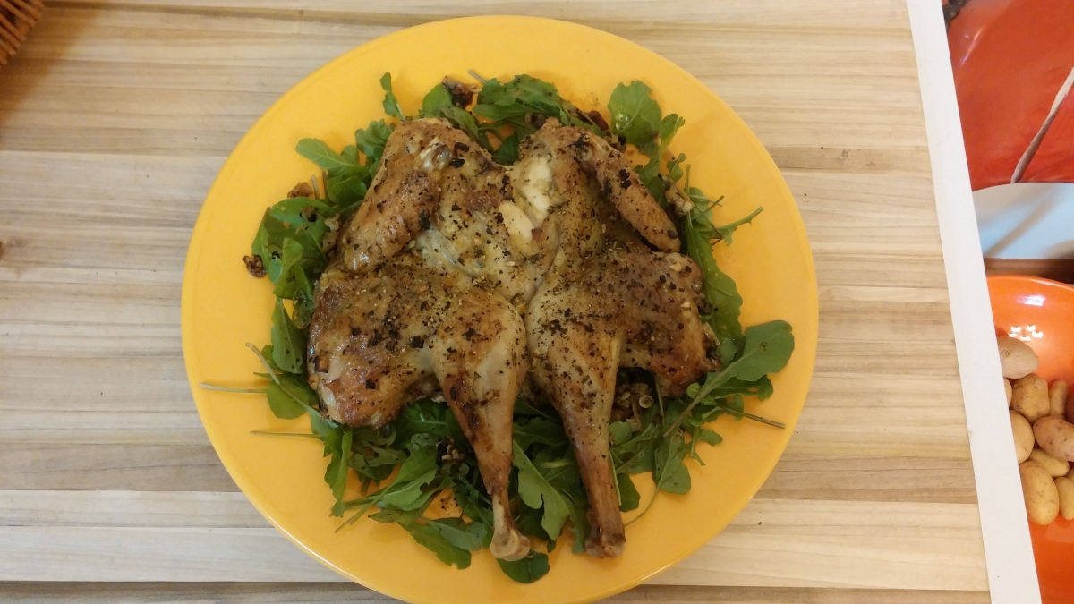 Roast Chicken with Preserved Lemons